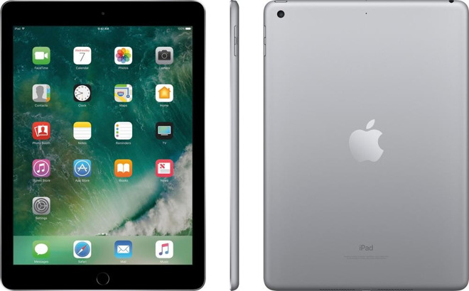 2017 iPad in Space Gray (32GB, Wi-Fi Only) for $307.50 with free shipping & no tax in 48 states